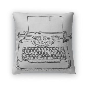 Throw Pillow, Retro Typewriter
