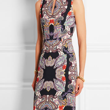 Printed Sleeveless Mini Pencil Dress