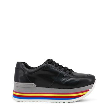 Ana Lublin Black Leather Sneakers