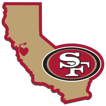 San Francisco 49ers Home State Pride Vinyl Decal