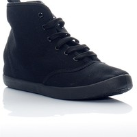 Breckelles Lace It Up Hi Top Lace Sneakeres - Black