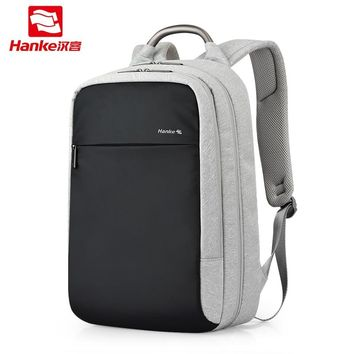 Anti theft Expandable Laptop Men Backpack Male Schoolbag Locked Female Travel Business Backpacks Women RFID Blocking College Bag+