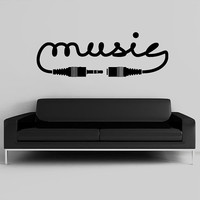 Wall Decal Vinyl Sticker Decals Art Decor Design Sign Music Song Sound Notes Melody Jazz Rap Hip Hop Living Room Dorm Office Bedroom (r1011)