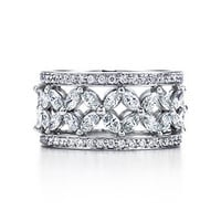Tiffany & Co. -  Victoria band ring with diamonds in platinum.