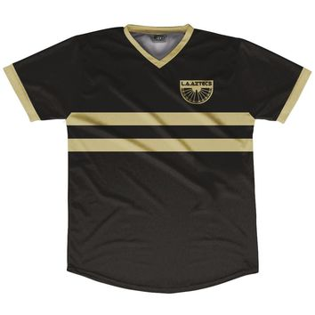 Los Angeles Aztecs Black and Gold LAFC Inspired Soccer Jersey
