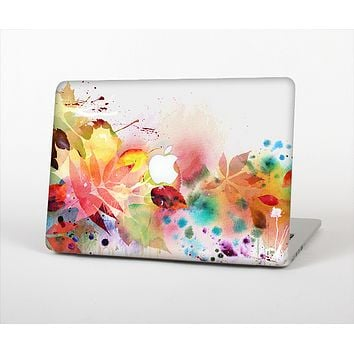 The Neon Colored Watercolor Branch Skin Set for the Apple MacBook Air 13""