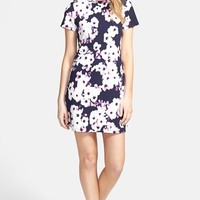 Junior Women's One Clothing Floral Print Short Sleeve Dress