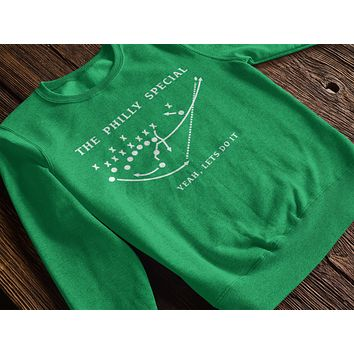 Unisex The Philly Special Let's Do It Crewneck Pullover Sweatshirt