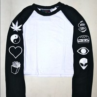 SWEET LORD O'MIGHTY! UP YO SLEEVES RAGLAN IN BLACK
