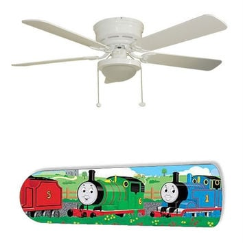 "Thomas the Train 52"" Ceiling Fan with Lamp"