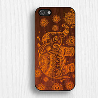 elephant  iphone 5c cases , iphone 5s case,  iphone case 5cs ,wooden printing  iphone 5 case,iphone 4s case,unique giftsd068-2
