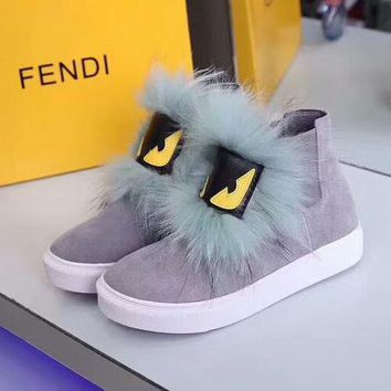 Fendi Women Fashion Casual Flats Shoes Boots Shoes