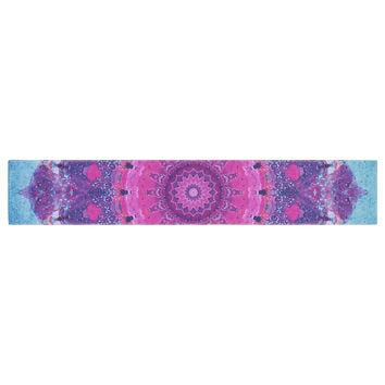 "Iris Lehnhardt ""Grunge Mandala"" Purple Blue Table Runner"