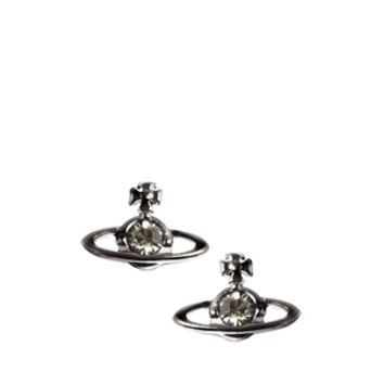 Vivienne Westwood Black Crystal Orb Earrings