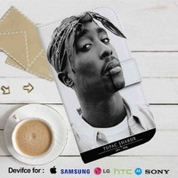 Tupac Shakur 1971-1996 Leather Wallet iPhone 4/4S 5S/C 6/6S Plus 7| Samsung Galaxy S4 S5 S6 S7 NOTE 3 4 5| LG G2 G3 G4| MOTOROLA MOTO X X2 NEXUS 6| SONY Z3 Z4 MINI| HTC ONE X M7 M8 M9 CASE