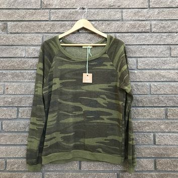 Alternative Earth Women's Green Camo Sweater