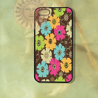 Colorful flowers -iPhone 5, 5c, 5s,4s, 4, Samsung GS3, GS4, GS5, iPod touch 4, 5 case-Silicone Rubber Hard Plastic Phone cover