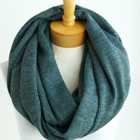 Teal jersey infinity scarf, dark teal eternity scarf, loop scarf, circle scarf, nomad cowl, t-shirt scarf