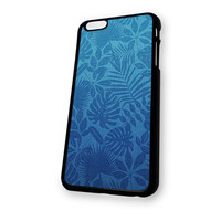 Blue Leaves Pattern iPhone 6 Plus case