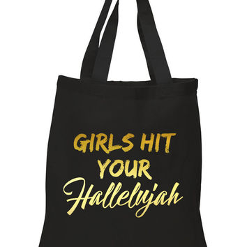 "Bruno Mars ""Uptown Funk - Girls Hit Your Hallelujah"" 100% Cotton Tote Bag"