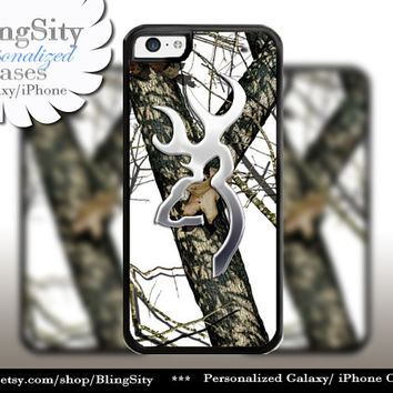 Browning Cutter White Snow Camo iPhone 4 5 5C 6 PLUS Case Cover Rubber Silicone Not actual Chrome Country