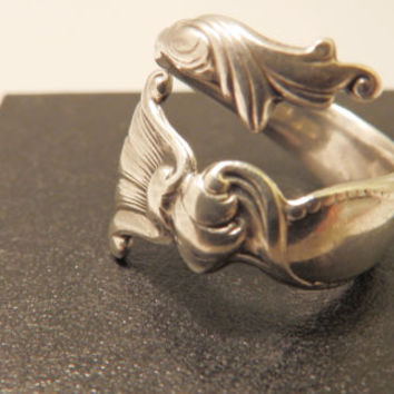 Wallace Sterling Silver Detailed Wrap Around Chunky Wide Band  Ring