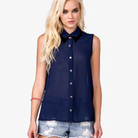 Colorblocked Collar Shirt | FOREVER 21 - 2023858680