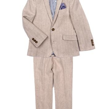 Appaman Boys' Khaki Herringbone Mod Suit