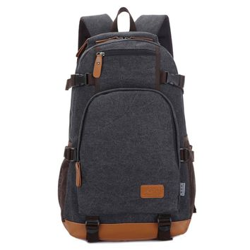 VSEN Hot Fashion canvas men's daily travel duffle backpack for laptop Korean style vogue hipster versatile youth school bag