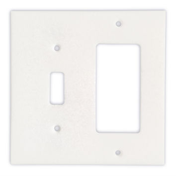 Thassos White Marble Toggle Rocker Switch Wall Plate / Switch Plate / Cover - Honed
