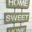 Home Sweet Home sign wall hanging rustic shabby chic tan home decor cottage primitive chain distressed words chippy paint housewarming gift