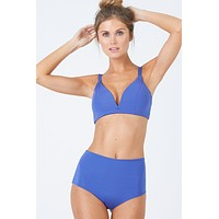 Baltic V Wire Bralette Bikini Top - Sodalite Blue