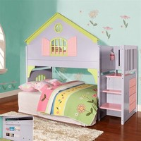 Pivot Direct PD_0300 Donco Kid's Doll House Stair Step Loft Bed