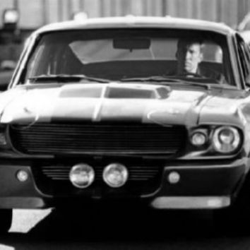 """Eleanor Mustang Poster Black and White Mini Poster 11""""x17"""""""