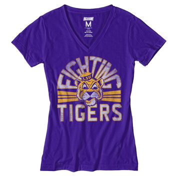 LSU Women's Purple V-Neck