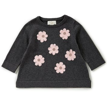 kate spade new york Little Girls 2-6 Floral-Embroidered Sweater | Dillards