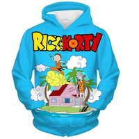 Rick And Morty Dragon Ball Parody Funny Hoodie
