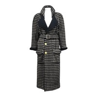Exceptional Chanel houndstooth tweed coat c. 1980s