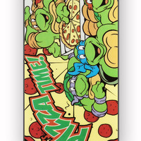 TMNT Turtles Ninja Pizza for iPhone 4/4S Case **