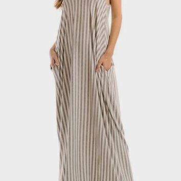 Maia Striped Maxi Dress