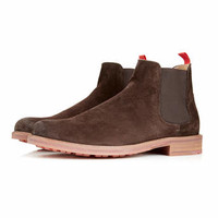 Ben Sherman Brown Suede Chelsea Boots - New In