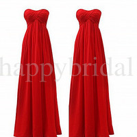 Vintage Long Orange Bridesmaid Dresses Lovely Sweetheart Prom Dresses Homecoming Dresses 2014 New custom Made Drsses