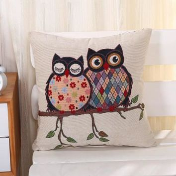 Cartoon Handmade Owl Home Decor Pillow Decorative Throw Pillows Cute Drawing 21