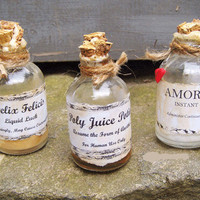 WIZARD POTION Bottles Halloween Decoration Witch  Magic Spell