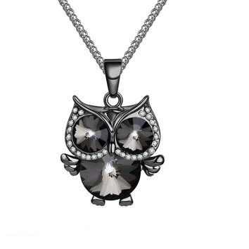 Fashion Charms Crystal Owl Pendant Necklaces
