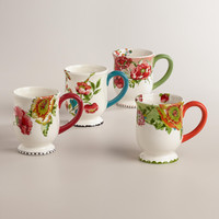 Nomad Flower Mugs, Set of 4 - World Market