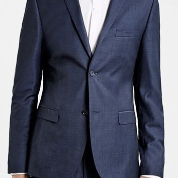 Men's Topman Navy Skinny Fit Suit Jacket,
