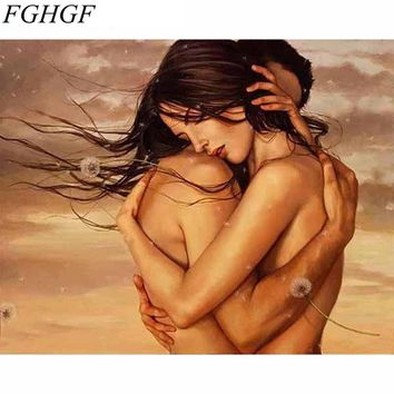 FGHGF Acrylic Picture Figure Painting Thinking Women DIY Painting By Numbers Wall Art Home Decor Paint On Canvas