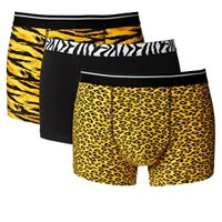 ASOS 3 Pack Trunks With Animal Print