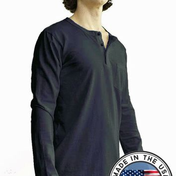 Men's Organic Cotton Henley - Heritage
